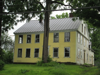 Stephen Jacob House with first coat of paint